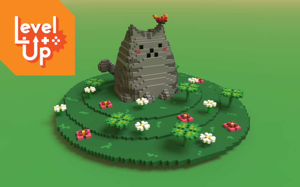 3D pixel art workshops for ages 12 and up
